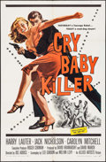 "Movie Posters:Crime, Cry Baby Killer (Allied Artists, 1958). One Sheet (27"" X 41""). Crime.. ..."