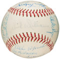 Baseball Collectibles:Balls, 1967 Boston Red Sox Team Signed Baseball (25 Signatures)....
