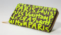 Paintings, Stephen Sprouse (1953-2004). Louis Vuitton Limited Edition Green Monogram Graffiti Canvas Zippy Wallet, 2009. Canvas & L...