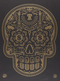 Prints:Contemporary, Shepard Fairey X Ernesto Yerena. Power & Glory Day of theDead Skull, 2008. Screenprint in colors. 24 x 18 inches (61.0...