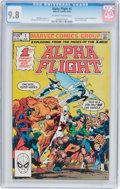Modern Age (1980-Present):Superhero, Alpha Flight #1 (Marvel, 1983) CGC NM/MT 9.8 Off-white to whitepages....
