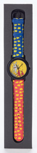 Post-War & Contemporary:Contemporary, Keith Haring X SEL. Wrist Watch (Red, Blue and Yellow). 9-1/4 inches (23.5 cm). ...