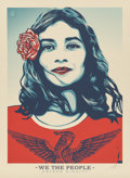 Prints & Multiples, Shepard Fairey (b. 1970). We the People: Defend Dignity, 2017. Lithograph in colors. 41 x 30 inches (104.1 x 76.2 cm) (s...