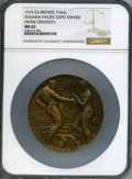 Expositions and Fairs, 1915 Panama-Pacific Exposition, Expo Award, Divine Disivncta, MS65NGC. Bronze, 71mm....