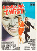 "Movie Posters:Rock and Roll, Twist Around the Clock (Columbia, 1961). Italian 2 - Fogli (39"" X55""). Rock and Roll.. ..."