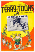 "Movie Posters:Animation, Terry-Toons Stock (20th Century Fox, 1939). One Sheet (27"" X 41"").""The Golden West."" Animation.. ..."