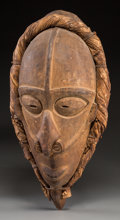 Tribal Art, Unidentified Group, Papua, New Guinea, Melanesia. Male Mask...