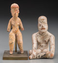 Pre-Columbian:Ceramics, Two Pre-Classic Miniature Figures. c. 1200 - 800 BC... (Total: 2Items)