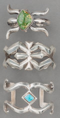 American Indian Art:Jewelry and Silverwork, Three Navajo Silver Sandcast Bracelets. c. 1960. ... (Total: 3Items)