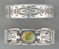 American Indian Art:Jewelry and Silverwork, Two Navajo Silver Bracelets. Gary Reeves and Tommy Curtis. c.1990... (Total: 2 Items)