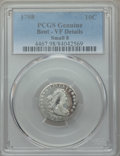 Early Dimes, 1798 10C Small 8 -- Damage -- PCGS Genuine. VF Details. PCGSPopulation: (1/13). CDN: $5,000 Whsle. Bid ...
