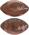 Football Collectibles:Balls, Dick Butkus & Gale Sayers Single Signed Footballs. ...