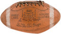 Football Collectibles:Balls, Lou Groza Official Model Hutch Signed Football. ...