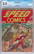 Golden Age (1938-1955):Superhero, Speed Comics #1 (Harvey, 1939) CGC GD+ 2.5 Light tan to off-white pages....