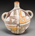 American Indian Art:Pottery, An Acoma Polychrome Canteen. c. 1900...