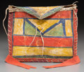 American Indian Art:Beadwork and Quillwork, A Crow Painted Parfleche Case. c. 1870...