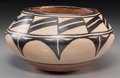 American Indian Art:Pottery, A Santo Domingo Polychrome Jar. c. 1940...