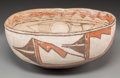 American Indian Art:Pottery, A Zuni Polychrome Dough Bowl. c. 1890. ...