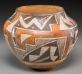 American Indian Art:Pottery, An Acoma Polychrome Storage Jar. c. 1925...