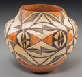 American Indian Art:Pottery, An Acoma Polychrome Storage Jar. c. 1935...