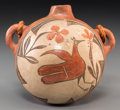 American Indian Art:Pottery, A Zia Polychrome Canteen. c. 1920...
