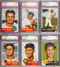 Baseball Cards:Lots, 1953 Topps Baseball PSA NM 7 High Number Collection (6). ...