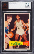 Basketball Cards:Singles (Pre-1970), 1957 Topps Bill Russell #77 BVG NM+ 7.5. ...