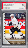 Hockey Cards:Singles (1970-Now), 2005 Upper Deck Sidney Crosby #201 PSA Mint 9....