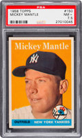 Baseball Cards:Singles (1950-1959), 1958 Topps Mickey Mantle #150 PSA NM+ 7.5....