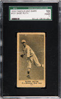 Baseball Cards:Singles (Pre-1930), 1916 Famous & Barr Co. Babe Ruth #151 SGC 10 Poor 1. ...