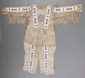 American Indian Art:War Shirts/Garments, A Blackfoot Man's Beaded Hide Shirt with Matching Leggings. c.1930... (Total: 2 Items)
