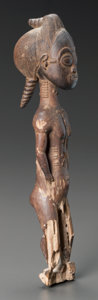 Tribal Art, A Baule Male Spirit Spouse, Ivory Coast...