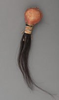 American Indian Art:Pipes, Tools, and Weapons, A Blackfeet Hide Rattle. c. 1880...