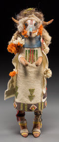 American Indian Art:Kachina Dolls, A Zuni Cottonwood Kachina Doll. Shalako. c. 1940...