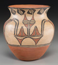 American Indian Art:Pottery, A San Ildefonso Polychrome Jar. c. 1910...