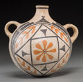 American Indian Art:Pottery, An Acoma Polychrome Canteen. c. 1910...