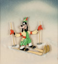 Animation Art:Production Cel, The Art of Skiing Goofy Production Cel Courvoisier Setup(Walt Disney, 1941)....