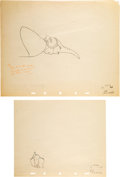 Animation Art:Production Drawing, Dumbo Mrs. Jumbo and Dumbo Animation and Effects DrawingGroup of 3 (Walt Disney, 1941).... (Total: 3 )