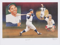 Autographs:Photos, Yogi Berra Signed Lithograph. ...