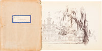 The Haunted House/Haunted Mansion Disneyland Notes and Plans Group (Walt Disney, 1957)