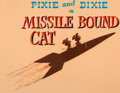 "Animation Art:Production Cel, Pixie and Dixie and Mr. Jinx ""Missile Bound Cat"" Title ProductionCel and Master Background Setup (Hanna-Barbera, 1960)...."