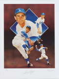 Autographs:Photos, Sandy Koufax Signed Lithograph. ...