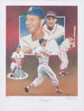 Autographs:Photos, Stan Musial Signed Lithograph....