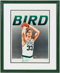 Basketball Collectibles:Others, Larry Bird Signed Lithograph....