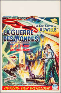 """The War of the Worlds (Paramount, 1953). Belgian (14"""" X 22""""). Science Fiction"""