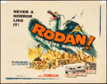 "Movie Posters:Science Fiction, Rodan! The Flying Monster (DCA, 1957). Half Sheet (22"" X 28"").Science Fiction.. ..."
