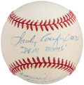 Baseball Collectibles:Balls, Sandy Koufax Singled Signed, Inscribed Baseball....