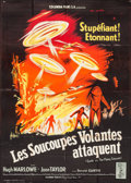 """Movie Posters:Science Fiction, Earth vs. the Flying Saucers (Columbia, 1956). French Grande (45.75"""" X 63""""). Science Fiction.. ..."""