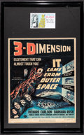 """Movie Posters:Science Fiction, It Came from Outer Space (Universal International, 1953). FramedWindow Card (14"""" X 22"""") 3-D Style, Autographed Card (3"""" X ..."""
