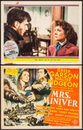"""Movie Posters:Drama, Mrs. Miniver (MGM, 1942). Trimmed Title Lobby Card (10.75"""" X 14"""") & Lobby Card (11"""" X 14""""). Drama.. ... (Total: 2 Items)"""